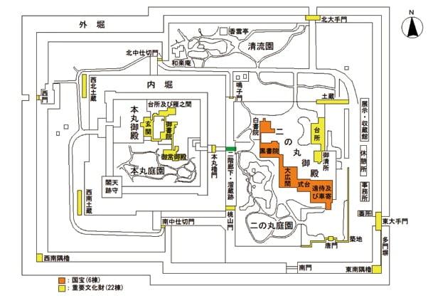 二条城の城内図